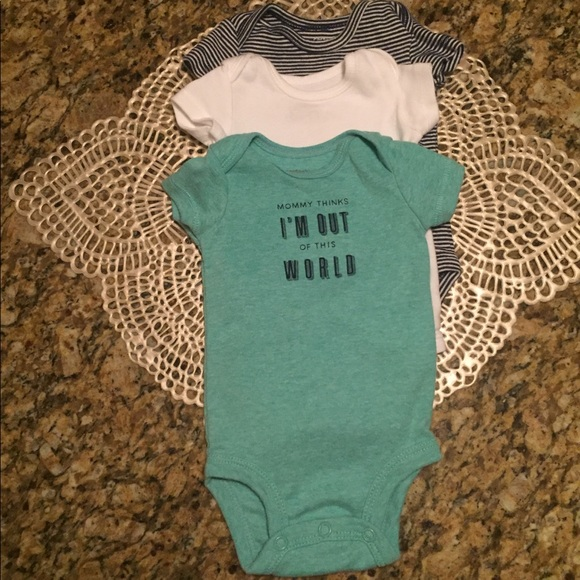 3f29204ce Carter's One Pieces | Sale Carters 3 Pack Newborn Baby Boy Onesies ...